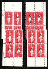 1963 Airmail Sc C68 matched plate blocks MNH 27529