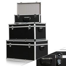 Masko® 3er SET Boxen Alubox Alukiste Transportbox Werkzeugkiste Lagerbox Schwarz