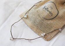 Crochet Natural Healing Gemstone Circlet Mother of Pearl & Rose Quartz
