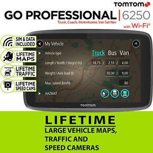 TomTom GO Professional 6250 Truck Trucker SatNav Lifetime Maps & Traffic