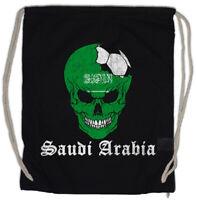 Saudi Arabia Football Skull I Turnbeutel arabische Fahne Fußball Arabien