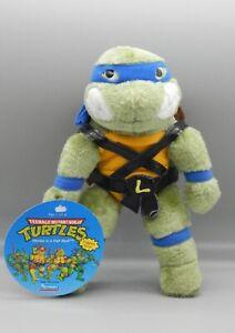 1990 Playmates TMNT plush Teenage Mutant Ninja Turtles LEONARDO stuffed figure