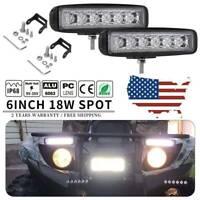 1PC  6'' 18W LED Light Bar Work Spot Pods Beam Off-road Car Driving Fog Truck