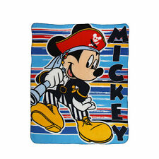 DISNEY plaid polaire couverture MICKEY bleu pirate  120 x 140 cm NEUF