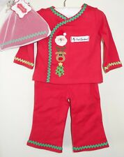 New Mud Pie Three Piece Holiday My First Christmas Outfit Size 0-3M