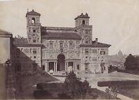 Villa Medici E Forum Roma 2 Foto Italia Vintage Albumina Ca 1875