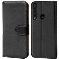Book Case für Motorola One Macro Hülle Tasche Flip Cover Handy Schutz Hülle