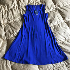 NEW Eileen Fisher Adriatic Viscose Jersey V-Neck Shaped Dress Sz XXS