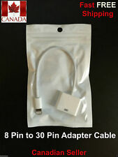 30 Pin to 8 Pin Dock Connector Adapter Cable For iPhone
