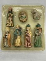 Vintage Christmas Nativity Set Figurines 7 Pieces Ceramic , Without Box ~3""