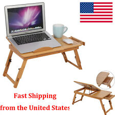 Adjustable Portable Bamboo Computer Laptop Desk Table Folding Bed Serving T
