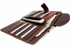 genuine leather case for apple iphone 7 / iphone 6 6s wallet cards cover brown R