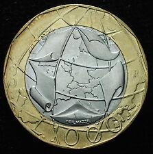 1997  Repubblica Italiana   1000   lire   Germania Unita  data evanescente