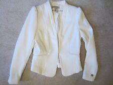 H&M WHITE LONG SLEEVE GORGEOUS CLASSY TEXTURED BLAZER JACKET SIZE 6 US/36 EUR