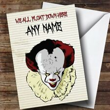 Pennywise Clown It Float Personalised Birthday Card