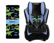 PERSONALIZED BABY TODDLER  CAR SEAT STRAP COVERS DINOSAURS