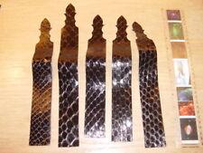 5 PYTHON STRIPS Snake Skin,Alligator,Crocodile,BeltsMakers,PenMakers,WatchStraps