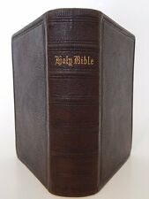 1867- HOLY BIBLE- Old & New Testaments- Antique Leather American Bible- Jesus