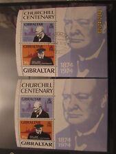 Gibraltar QE11 1974 Churchill Commemorative M/sheets x2 .MNH. Superb.