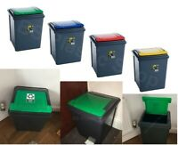 50L RECYCLE BIN STORAGE WASTE PLASTIC RECYCLING BINS KITCHEN HOME OFFICE TRASH