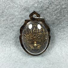 HEAD 4 EARS 5 EYES Ajahn Tawee Powerful Protect Amulet Thai Buddha Pendant Holy