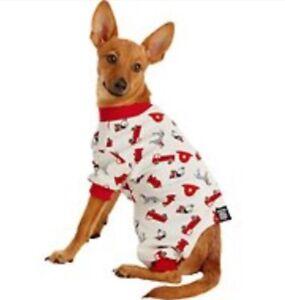 Petrageous  Red FIREMAN Dog Pajamas medium NWT