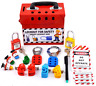 Electrical Lockout Tagout kit with MCB loto hasp padlock and station