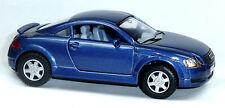 Audi TT Coupé Sammlermodell ca. 1:32 / 12,5cm blau metallic Neuware von KINSMART