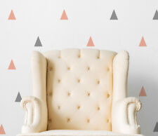 Party Grey and Pink Triangles (Set of 36) Wall Sticker Nursery Kids Home