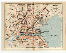 Map Of Annecy Côte d'Azur Southern France 1926