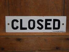 RARE OLD ORIGINAL 'CLOSED' PORCELAIN STORE DOOR SIGN VINTAGE ANTIQUE STONEHOUSE