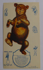 1939 Ice cream cards F51-2 Circus Cup Stands ups Bear