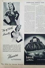1943 Flexaire women's bra by Flexees top of table bosom Beauty ad