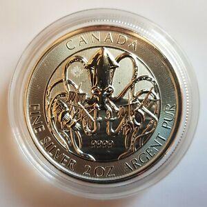 Canada 10 Dollars $10 2020 Creatures of the North Kraken Silver 9999 2 oz Coin