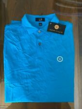 1 NWT DUNHILL MEN'S GOLF POLO SHIRT, SIZE: LARGE - BLUE (NORTH SHORE)
