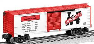 Lionel Monopoly Boxcar 3-Pack #5  Tennesee , Atlantic & Illinois Ave new in the