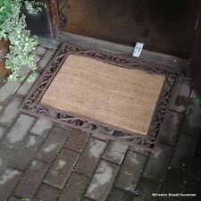 Doormat with Coir Centre Cast Iron Decorative