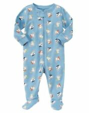 NWT GYMBOREE SNOW BEAR BLUE PREEMIE up to 5 POUNDS FOOTED SLEEPER Free Shipping