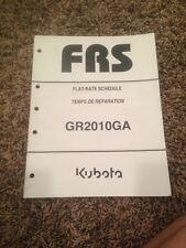 Kubota GR2010GA Mower  Flat Rate Manual/Schedule