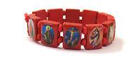 Saints Catholic Christian Jesus Wooden Wood Bracelets Available in 6 colours!
