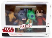"Disney Star Wars Scenez ""Mos Eisley Cantina"" - 4 Soft Plush Figures - New In Box"