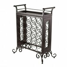 Winsome Silvano Wine Rack 5x5 w/Removable Tray, Dark Bronze 87523 Wine Rack NEW