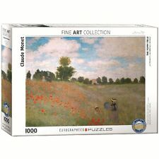 Claude Monet The Poppy Field 1000 Piece Puzzle