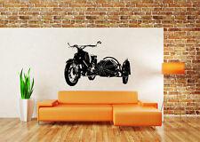 Wall Decor Art Vinyl Sticker Mural Decal Biker Motorcycle Bike Sidecar Set SA571