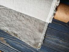 Natural linen fabric, organic pure softened beige linen medium weight fabric