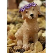 Puppy Lulu w Flower Halo WS 1698 Lab Golden Miniature Fairy Garden Dollhouse
