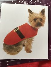Dog Clothes Santa Outfit Costume Christmas Xmas Fancy Dress Up Red SMALL