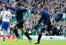 Signed James McFadden & Kenny Miller Scotland Autograph Photo