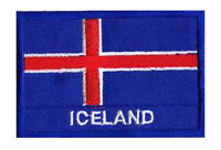 Patch écusson patche drapeau ISLANDE 70 x 45 mm Scandinavie brodé à coudre