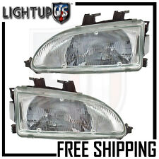 Headlights Headlamps Pair Left right set for 92-95 Honda Civic